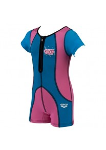ARENA Warm Suit (fuchia/blue)